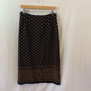 Vintage Briggs Petite Paisley Skirt